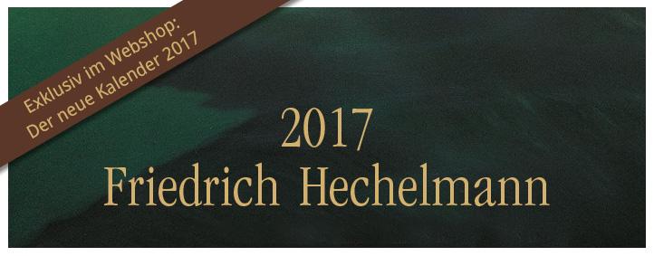 Der Kunstkalender 2017, mit Illustrationen von Friedrich Hechelmann